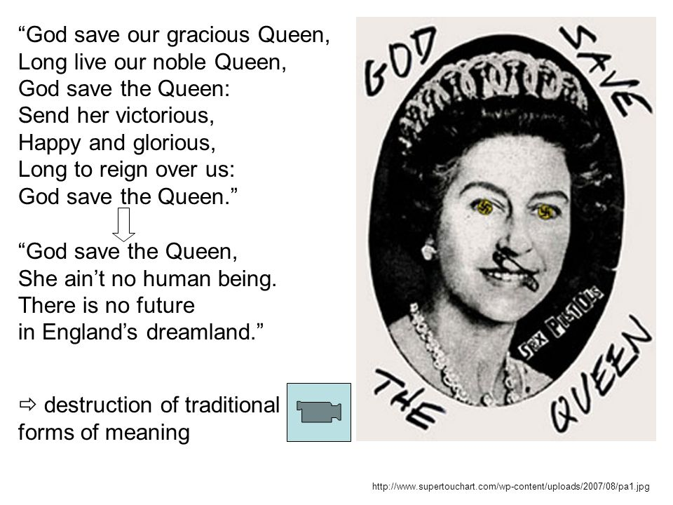 God save our gracious Queen, Long live our noble Queen,