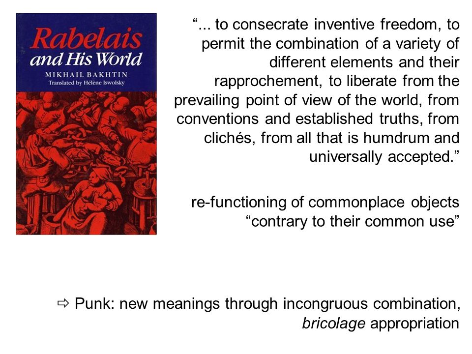 ... to consecrate inventive freedom, to permit the combination of a variety of different elements and their rapprochement, to liberate from the prevailing point of view of the world, from conventions and established truths, from clichés, from all that is humdrum and universally accepted.