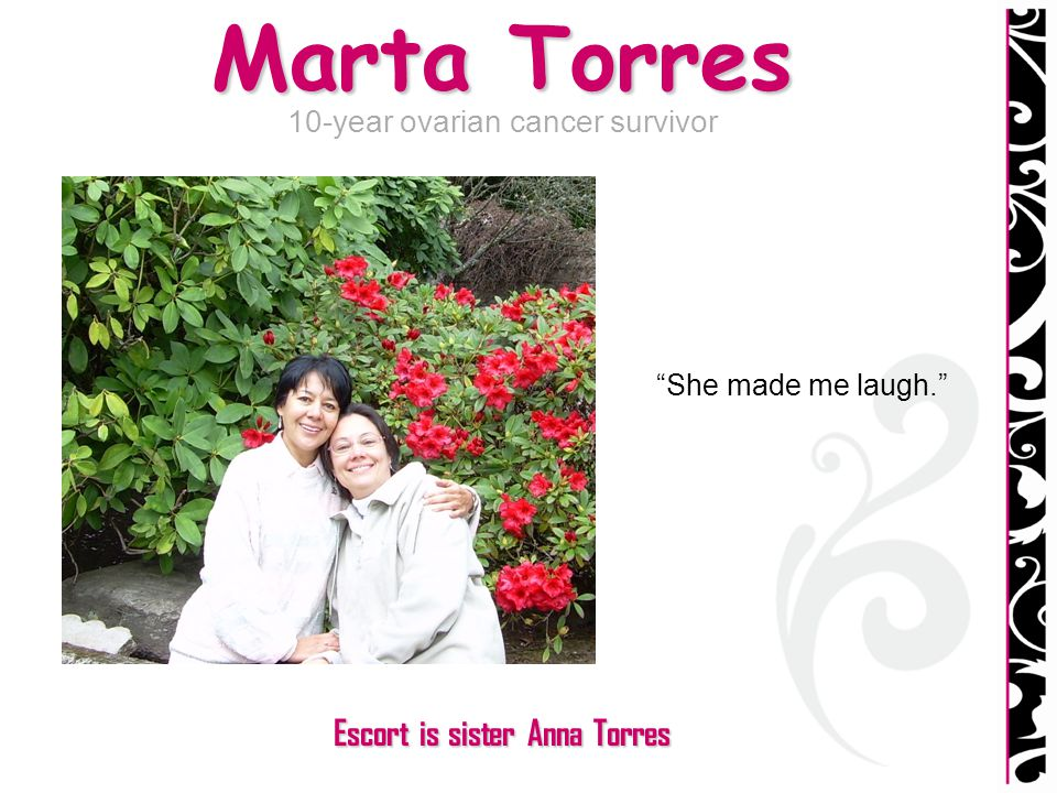 Escort is sister Anna Torres