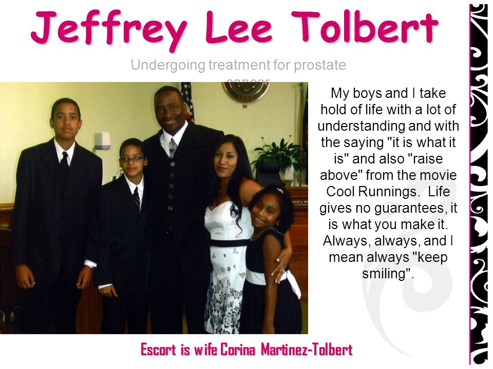 Jeffrey Lee Tolbert Escort is wife Corina Martinez-Tolbert