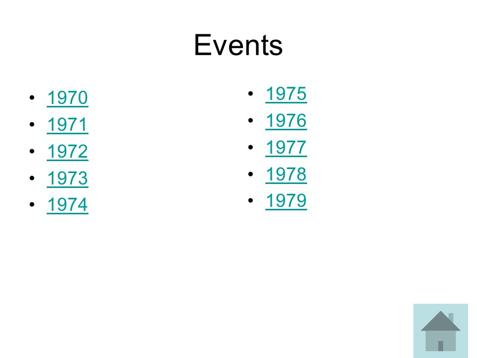 Events 1975 1976 1977 1978 1979 1970 1971 1972 1973 1974
