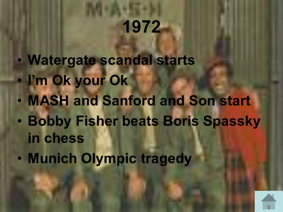 1972 Watergate scandal starts I'm Ok your Ok