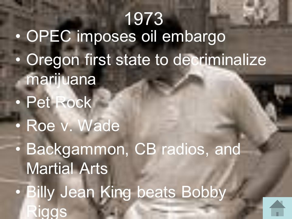 1973 OPEC imposes oil embargo