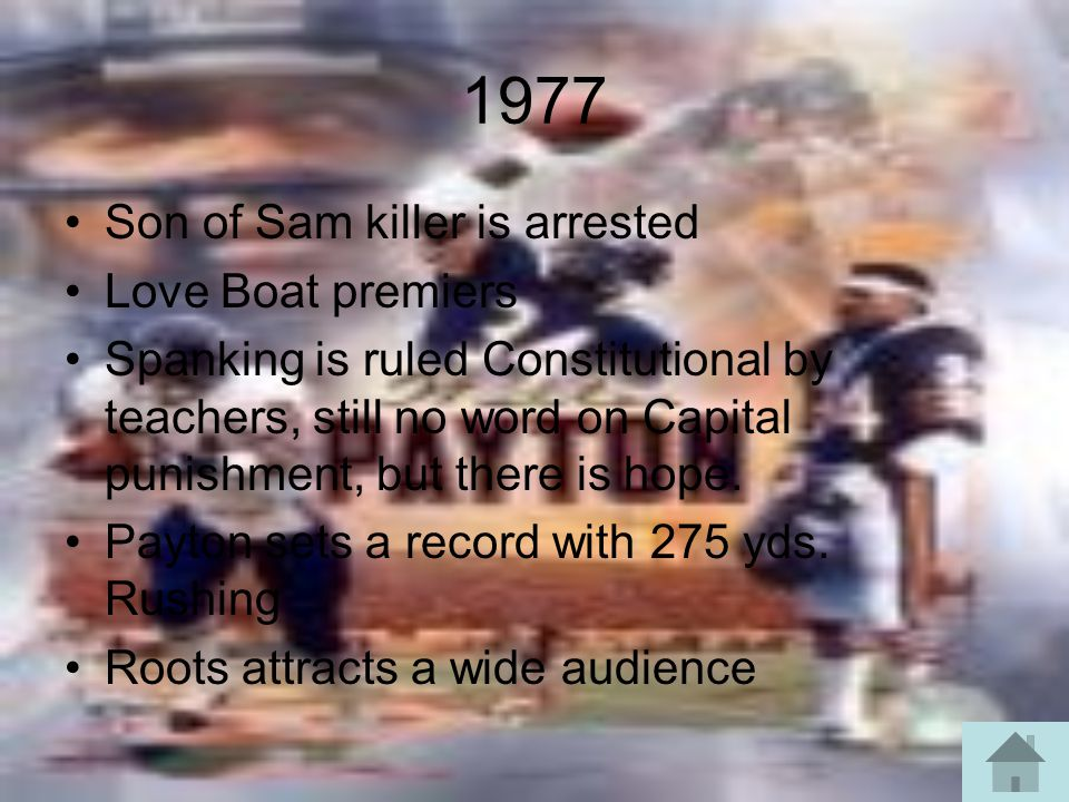 1977 Son of Sam killer is arrested Love Boat premiers