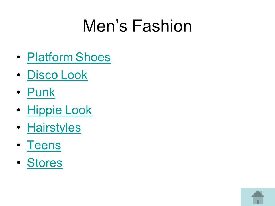 Men's Fashion Platform Shoes Disco Look Punk Hippie Look Hairstyles