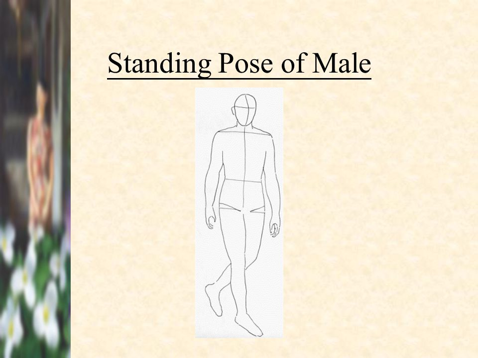 Standing Pose of Male