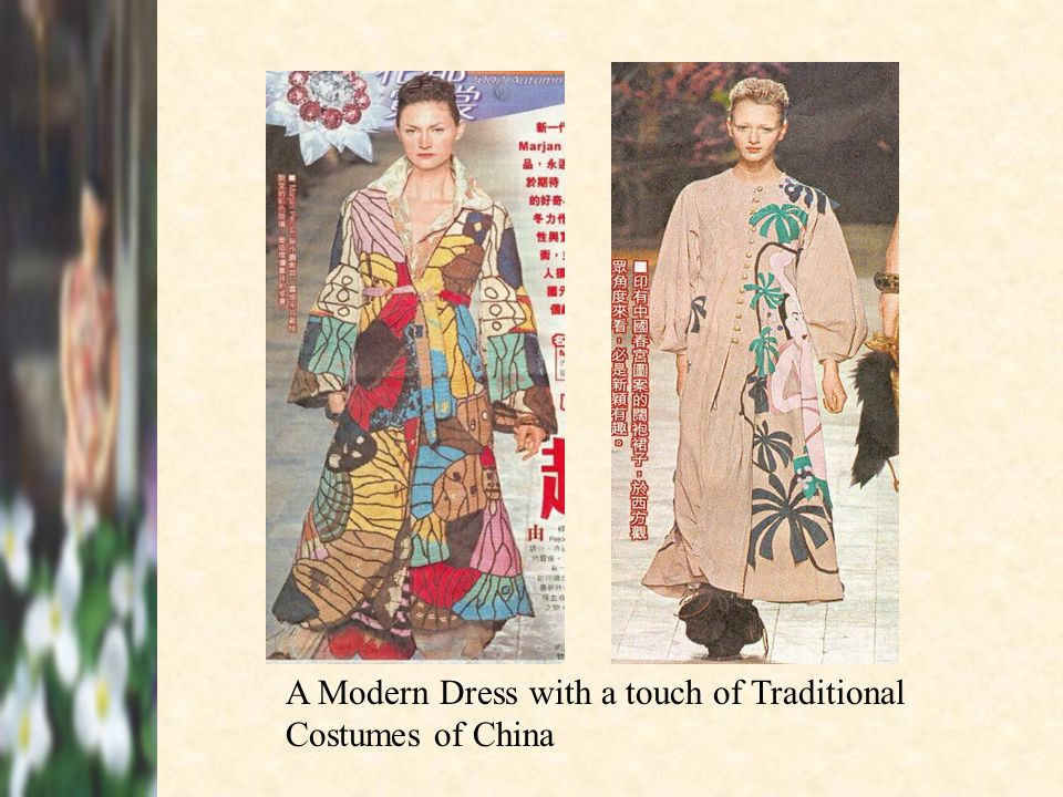 A Modern Dress with a touch of Traditional Costumes of China
