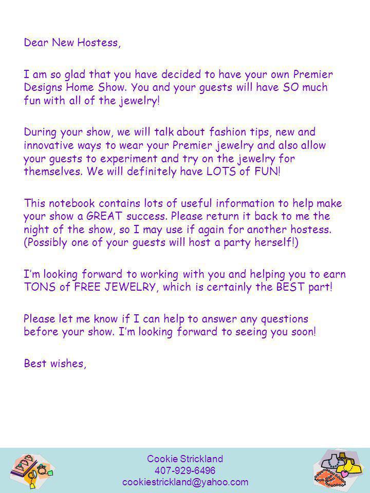 Dear New Hostess,