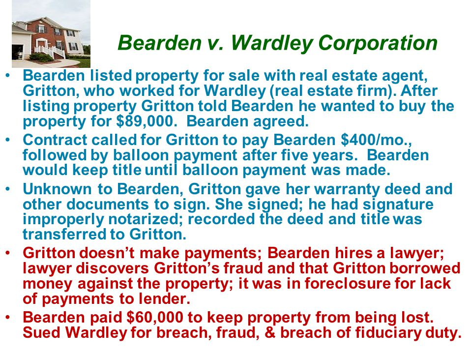 Bearden v. Wardley Corporation