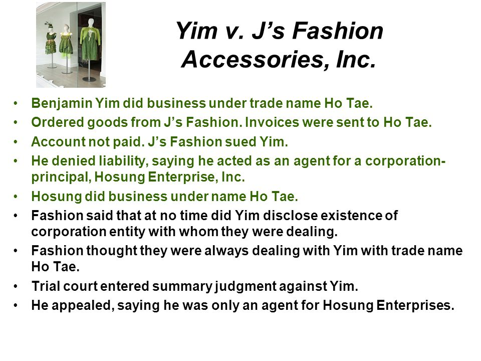Yim v. J's Fashion Accessories, Inc.