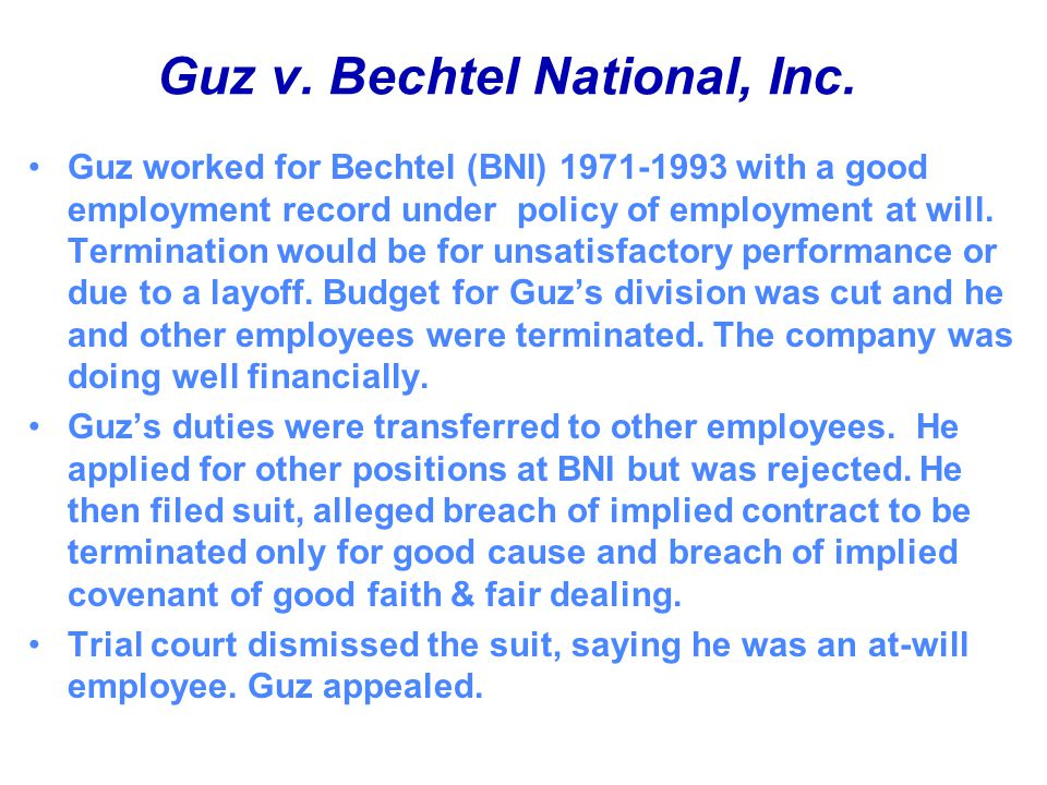 Guz v. Bechtel National, Inc.