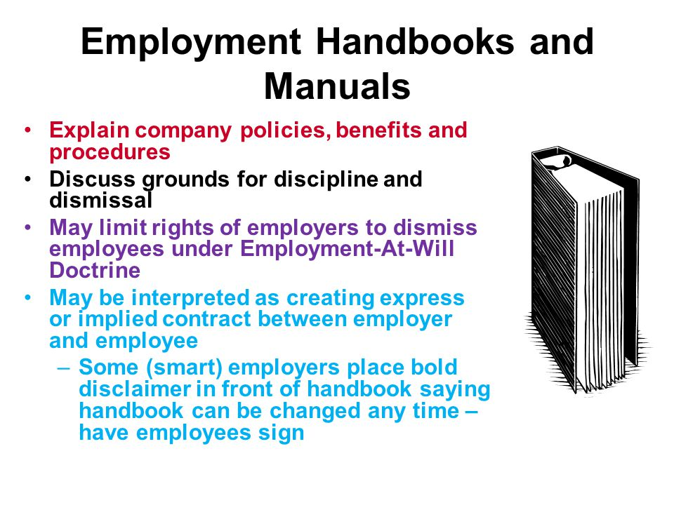 Employment Handbooks and Manuals