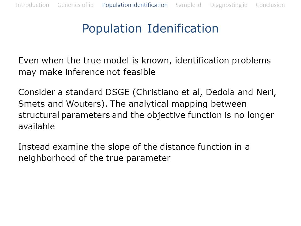 Population Idenification