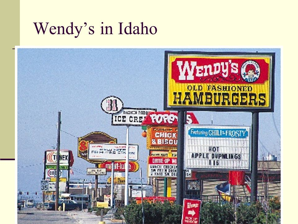 Wendy's in Idaho