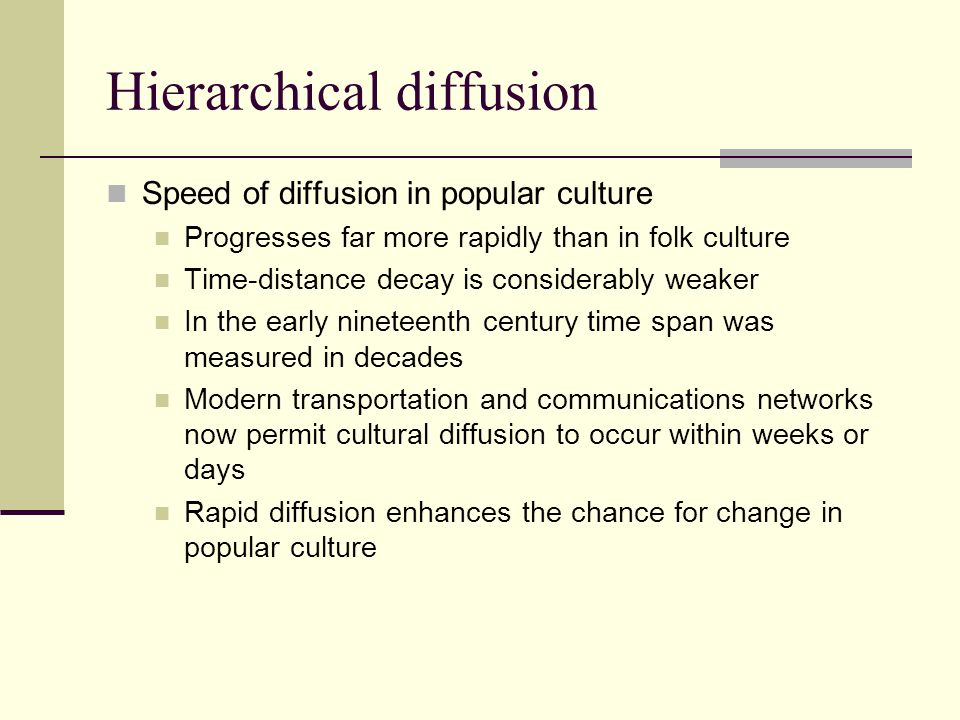 Hierarchical diffusion
