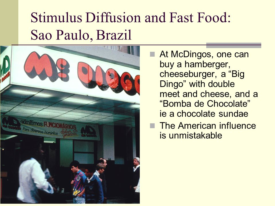 Stimulus Diffusion and Fast Food: Sao Paulo, Brazil