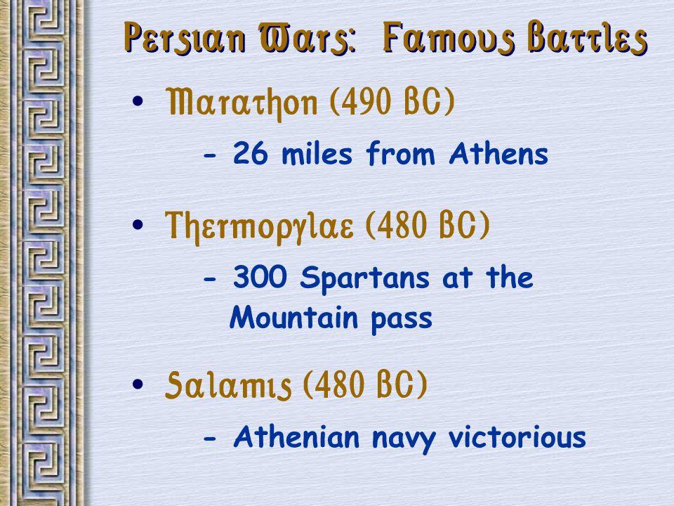 Persian Wars: Famous Battles