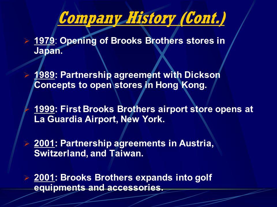 Company History (Cont.)