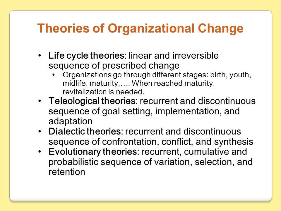 Theories of Organizational Change