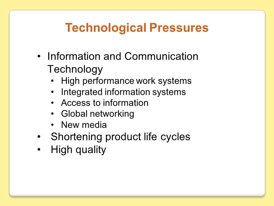Technological Pressures