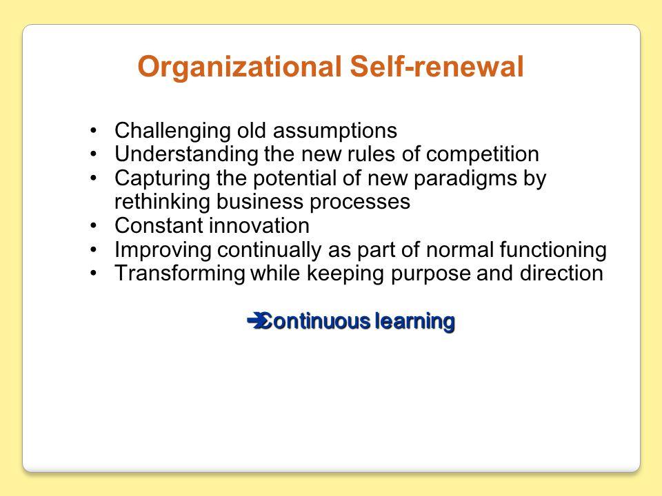 Organizational Self-renewal