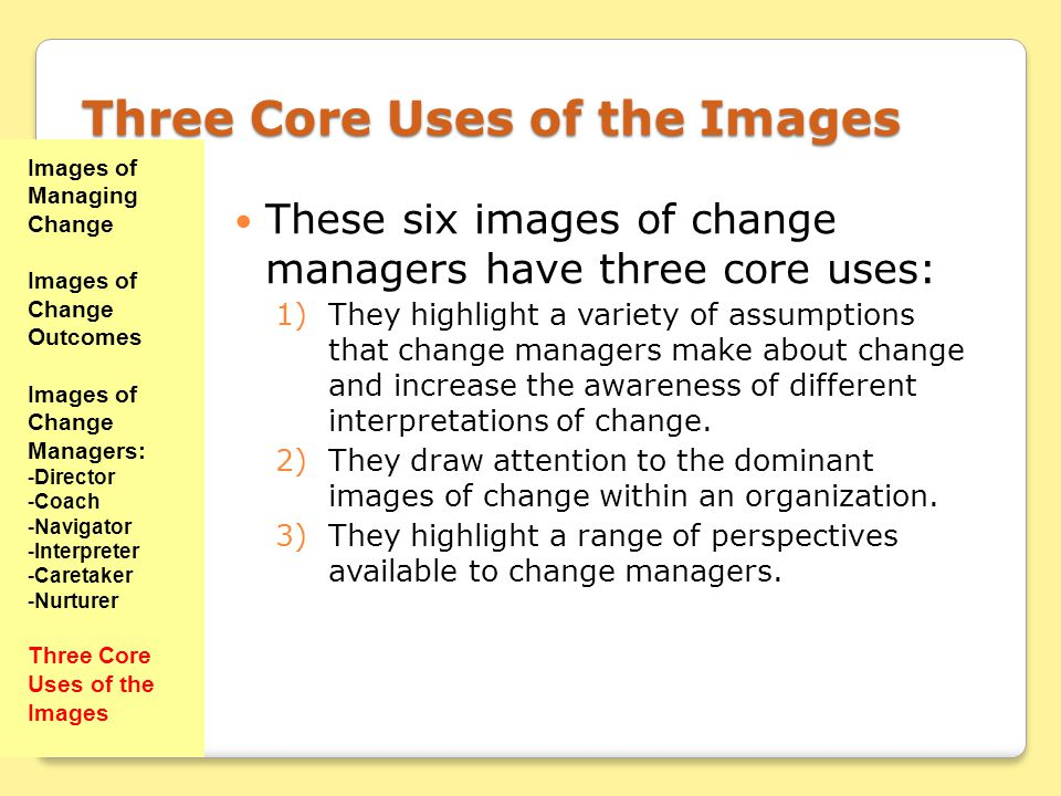 Three Core Uses of the Images