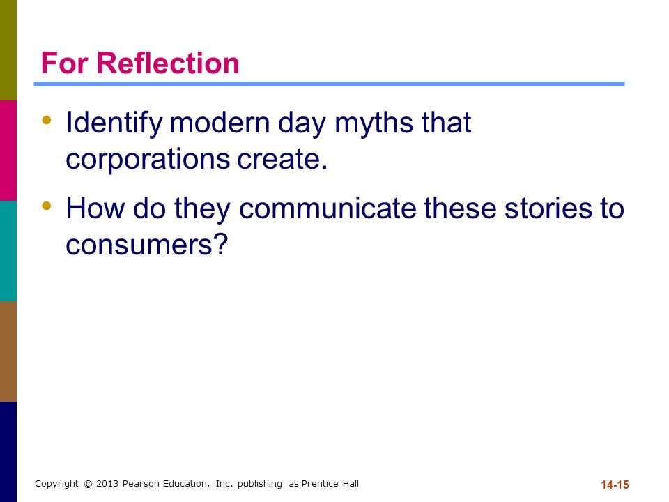 Identify modern day myths that corporations create.