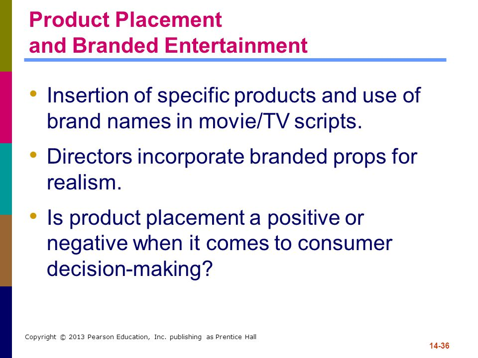 Product Placement and Branded Entertainment