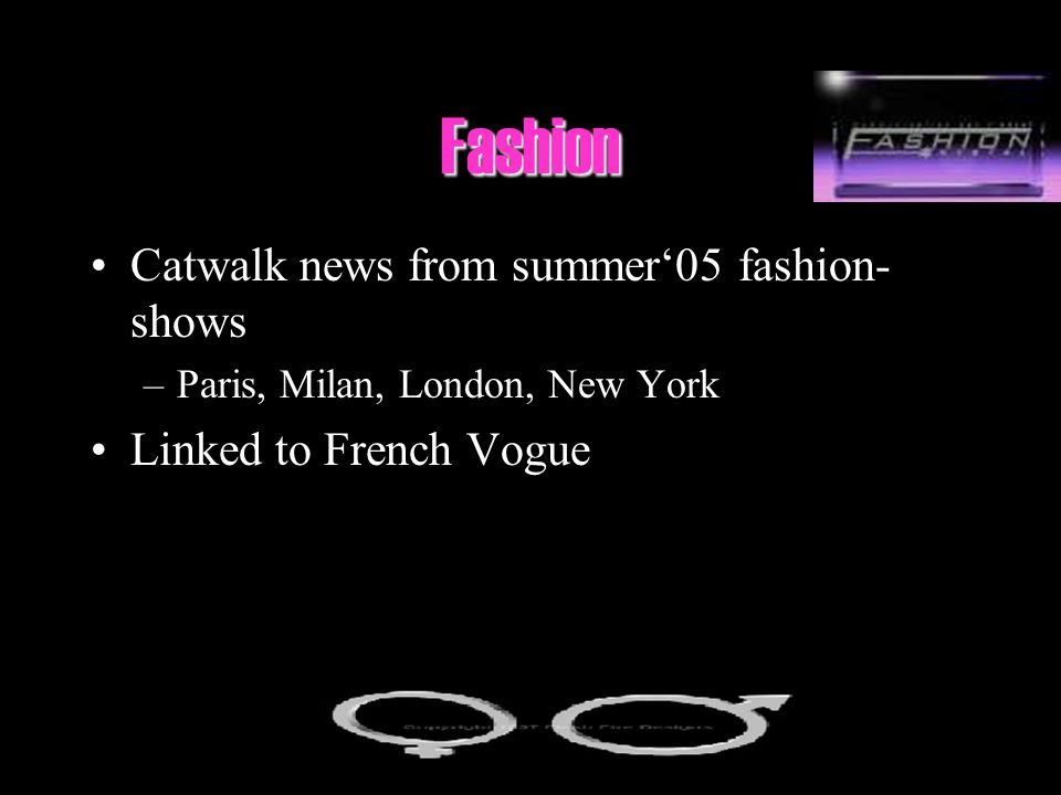 Fashion Catwalk news from summer'05 fashion-shows
