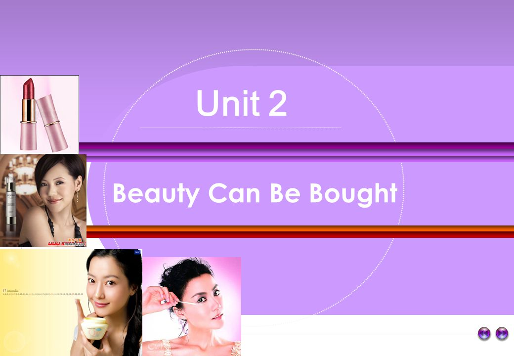 Unit 2 Beauty Can Be Bought r