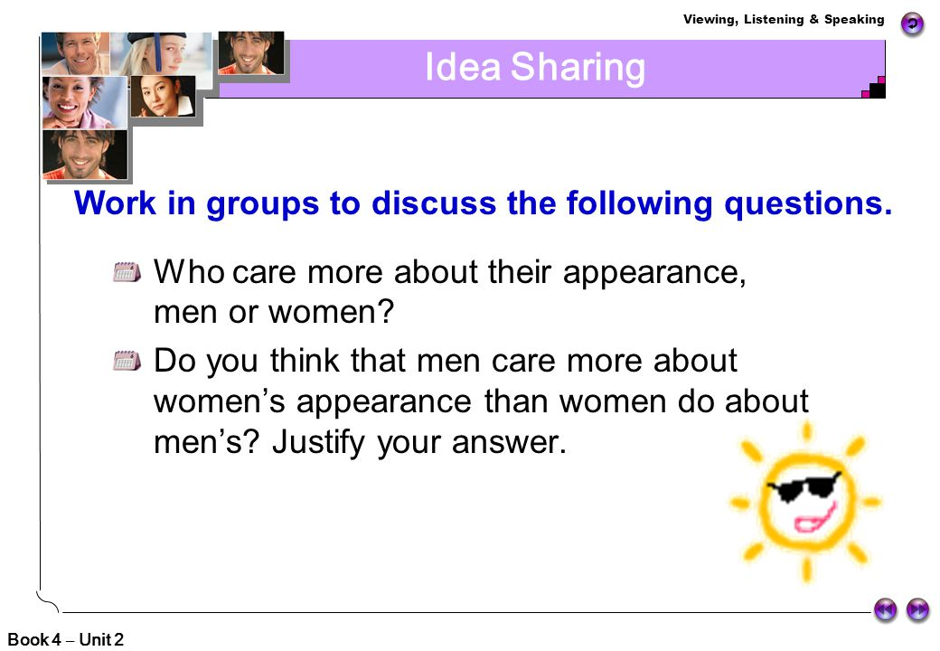 Work in groups to discuss the following questions.