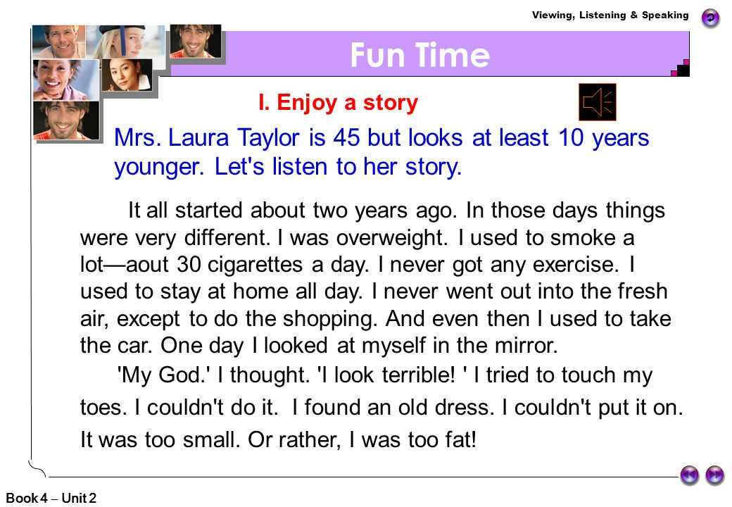 Fun Time Mrs. Laura Taylor is 45 but looks at least 10 years