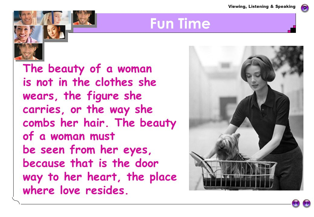 Fun Time The beauty of a woman