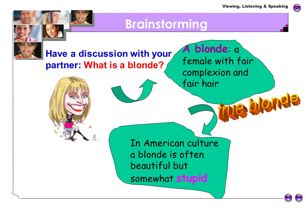 true blonde Brainstorming