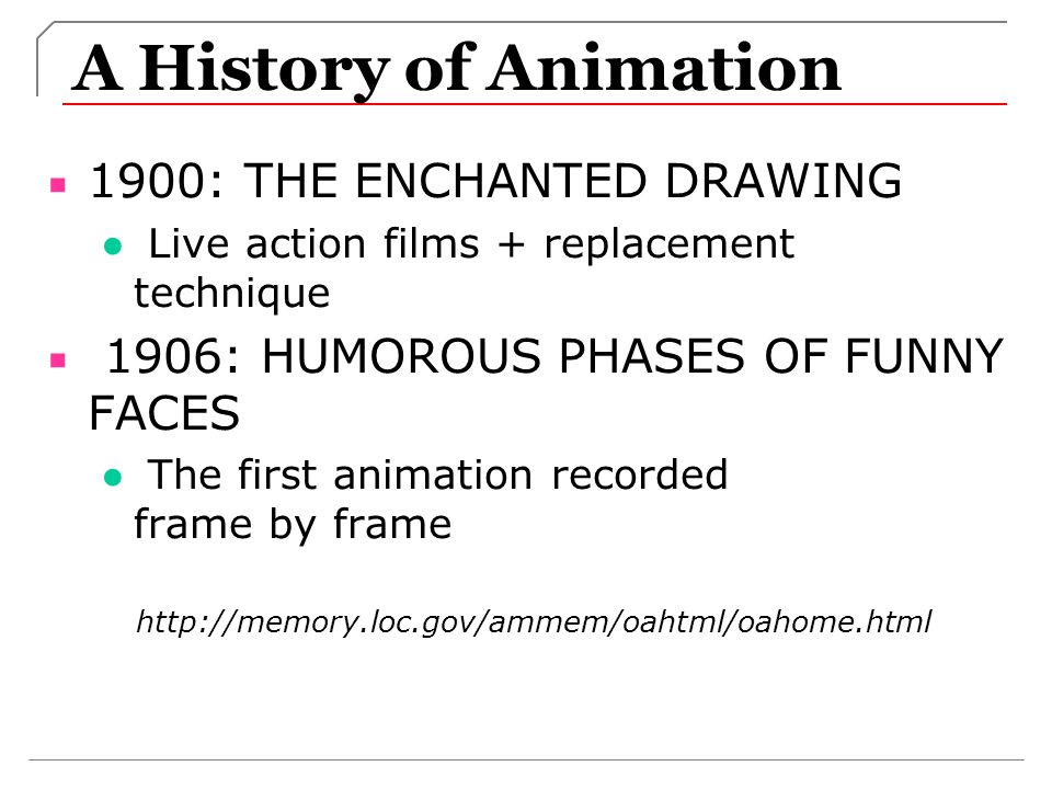 A History of Animation 1900: THE ENCHANTED DRAWING