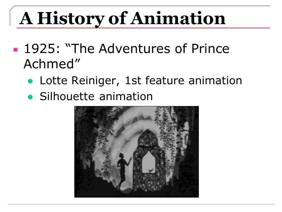 A History of Animation 1925: The Adventures of Prince Achmed