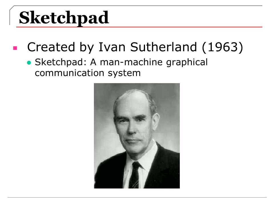 Sketchpad Created by Ivan Sutherland (1963)