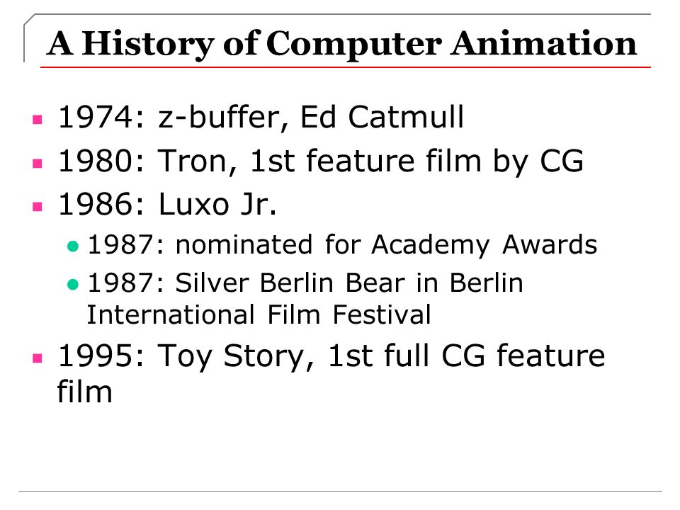 A History of Computer Animation