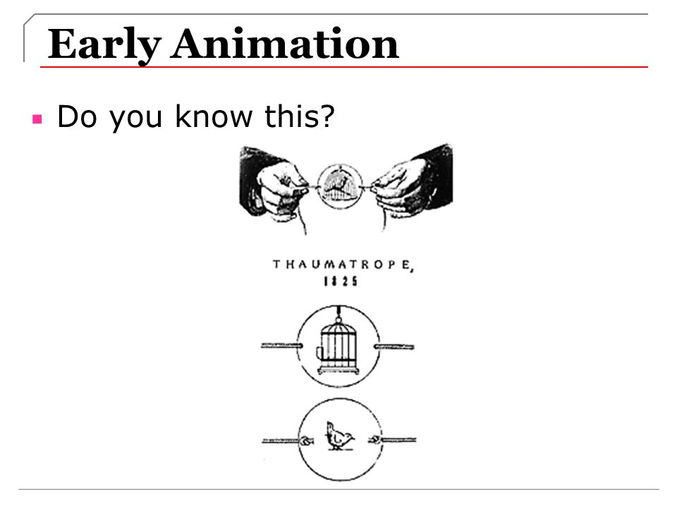 Early Animation Do you know this