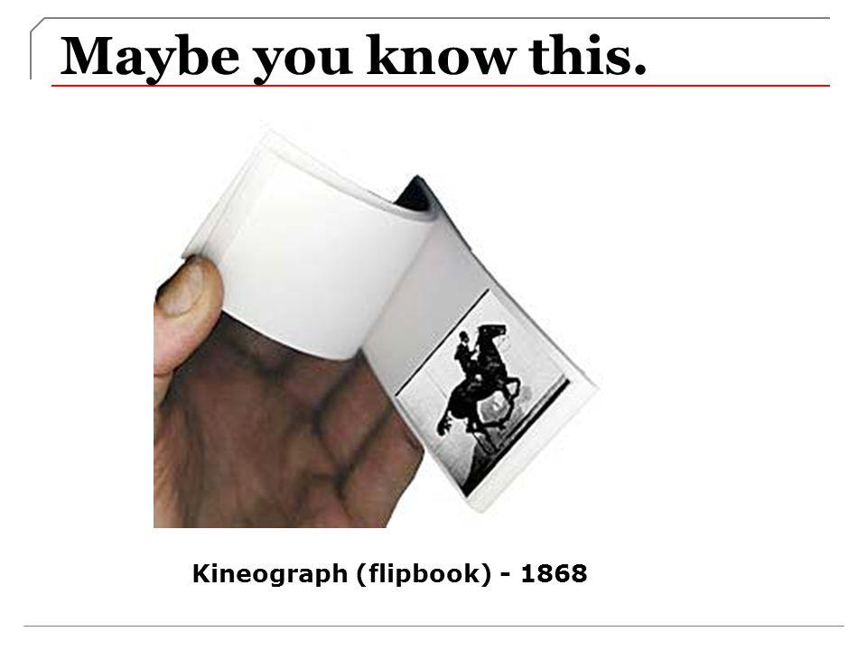 Kineograph (flipbook) - 1868