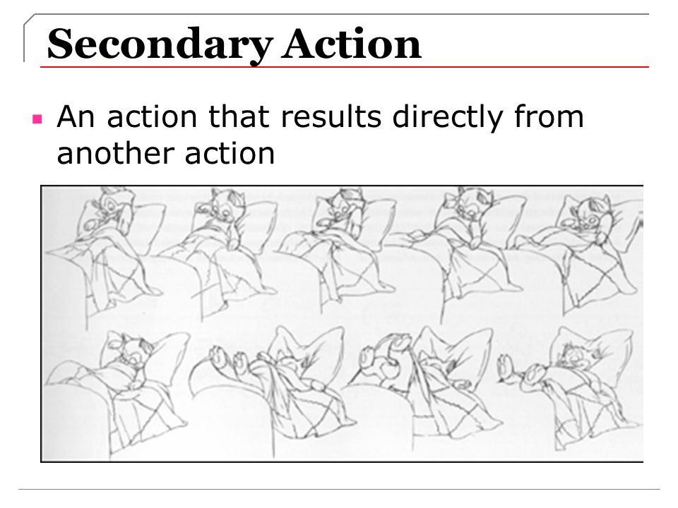 Secondary Action An action that results directly from another action
