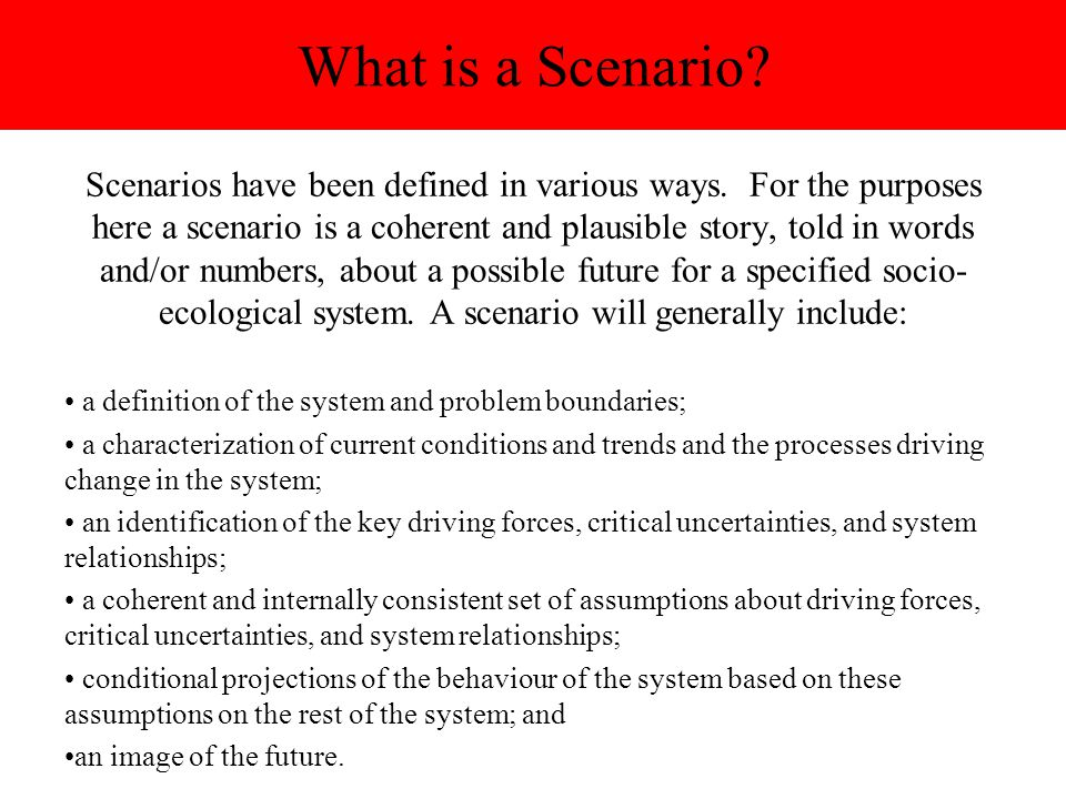 What is a Scenario