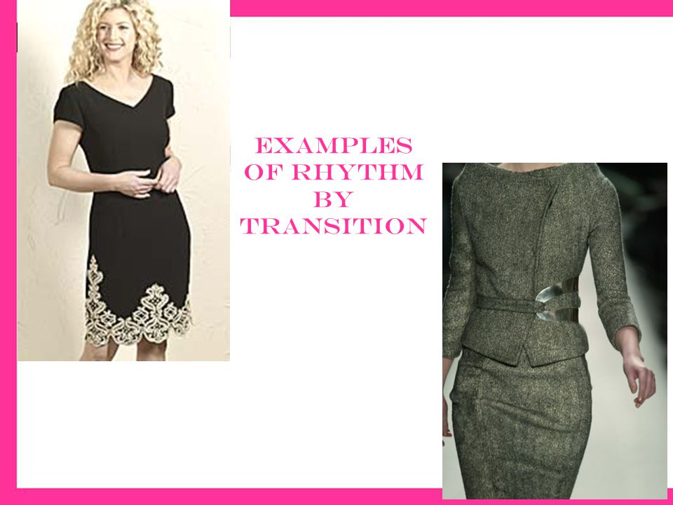The rhythm of fashion ppt video online download for Rhythm by transition