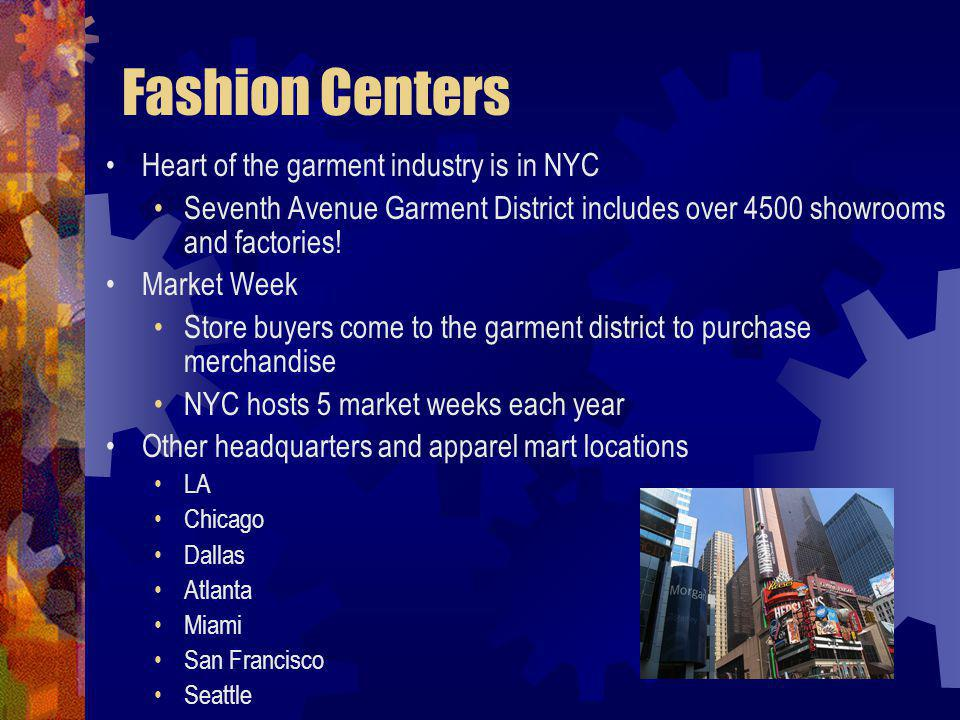 Fashion Centers Heart of the garment industry is in NYC