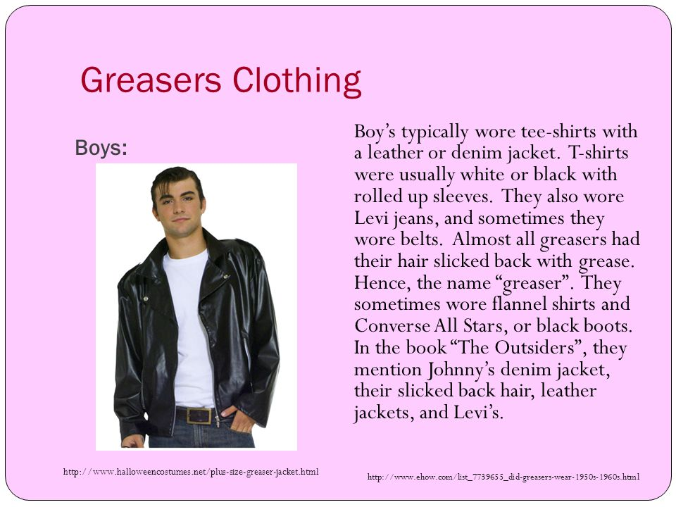 Greasers Clothing Boys: