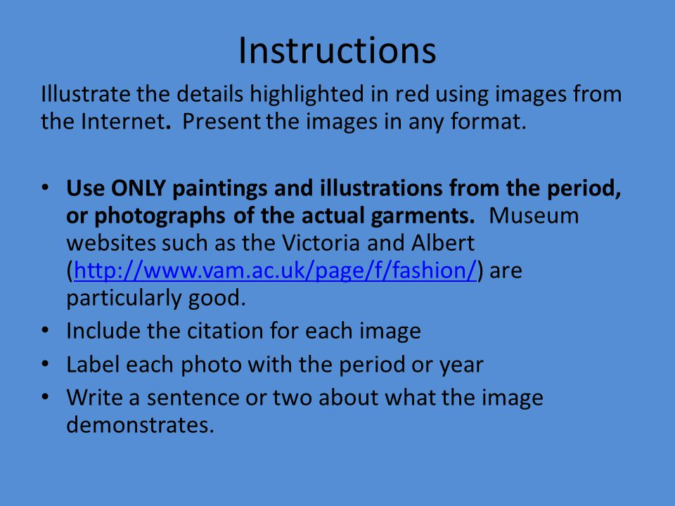 Instructions Illustrate the details highlighted in red using images from the Internet. Present the images in any format.