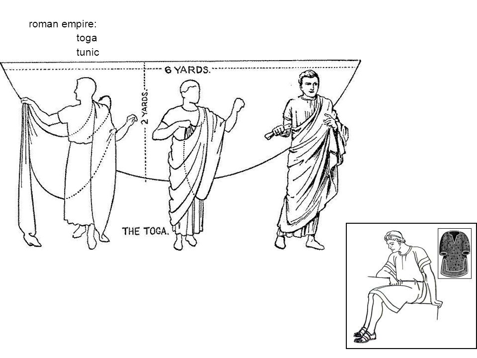 roman empire: toga tunic