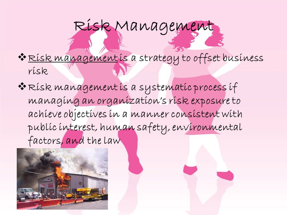 Risk Management Risk management is a strategy to offset business risk