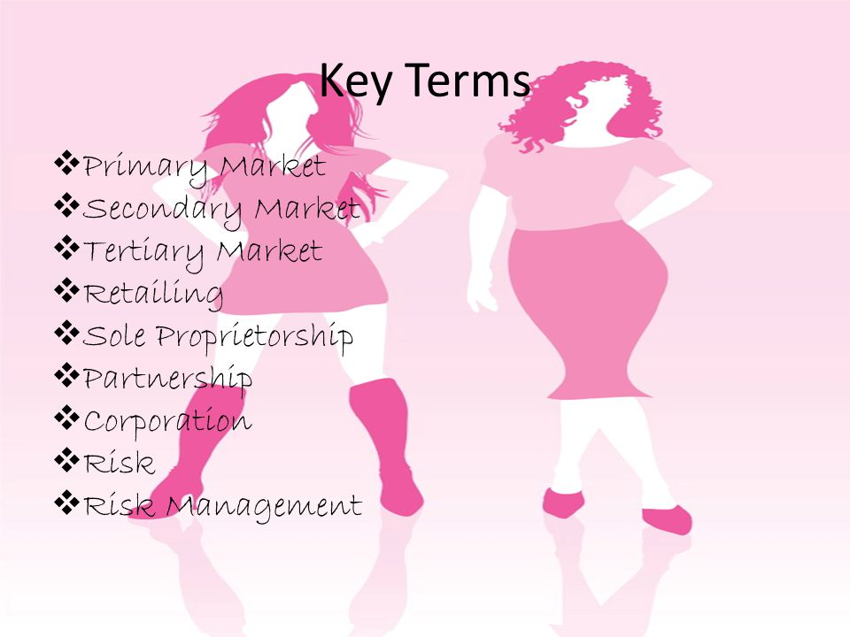 Key Terms Primary Market Secondary Market Tertiary Market Retailing