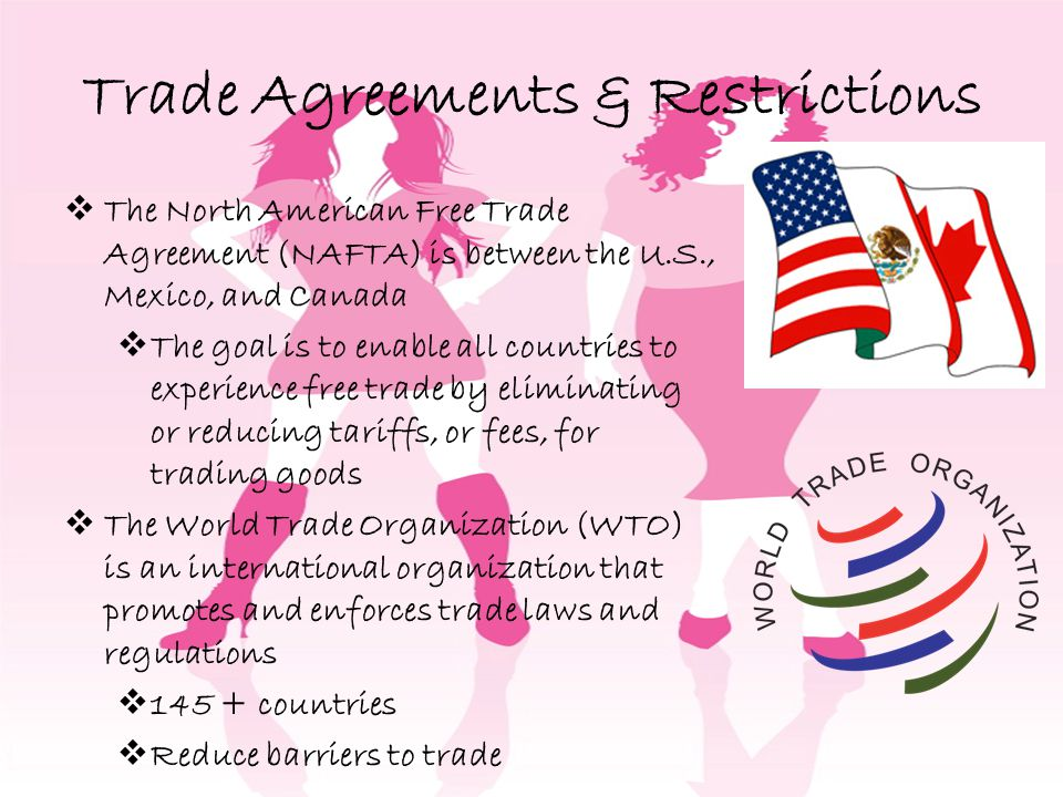 Trade Agreements & Restrictions